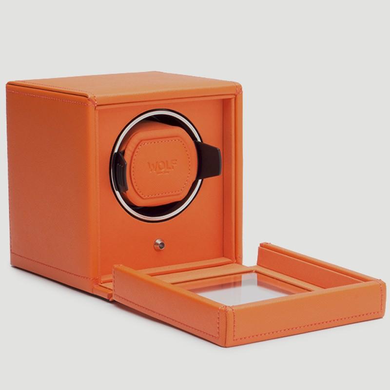 Ecrin rotatif Wolf orange à couvercle