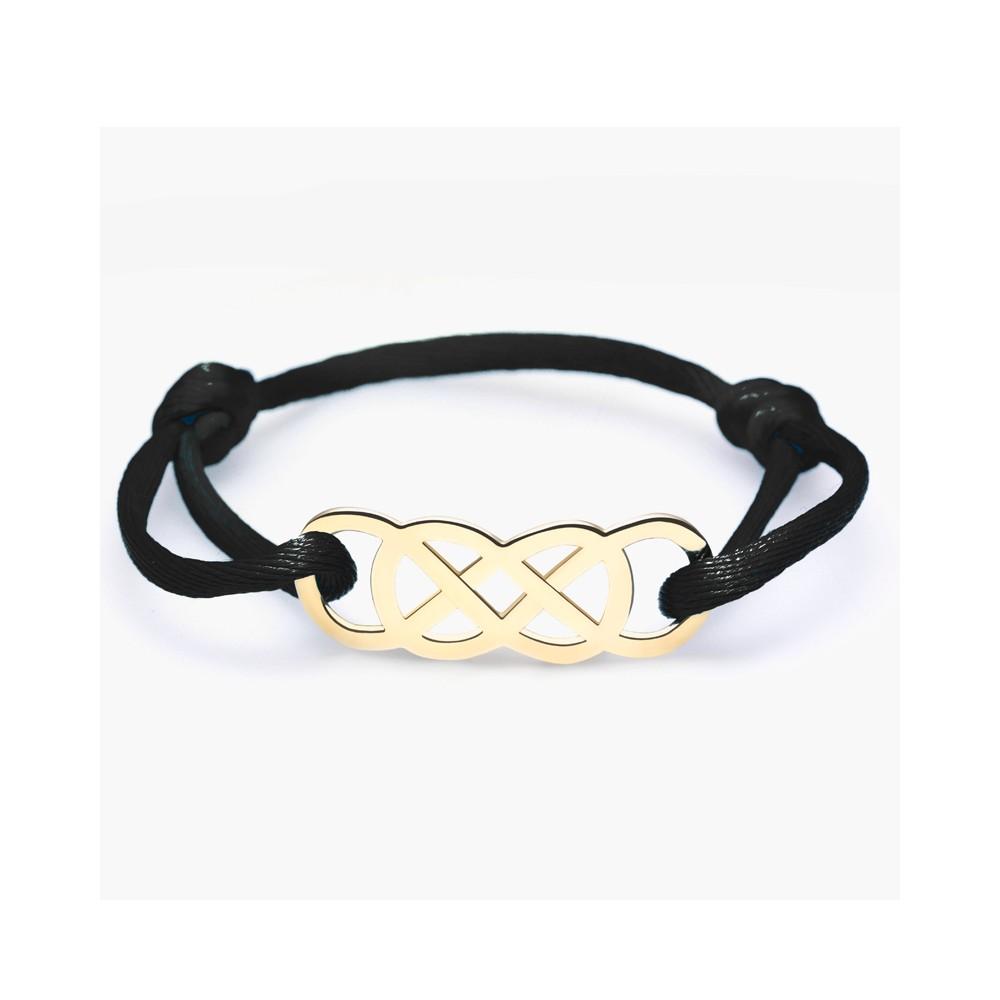 Bracelet Infinity by Victoria en satin or jaune
