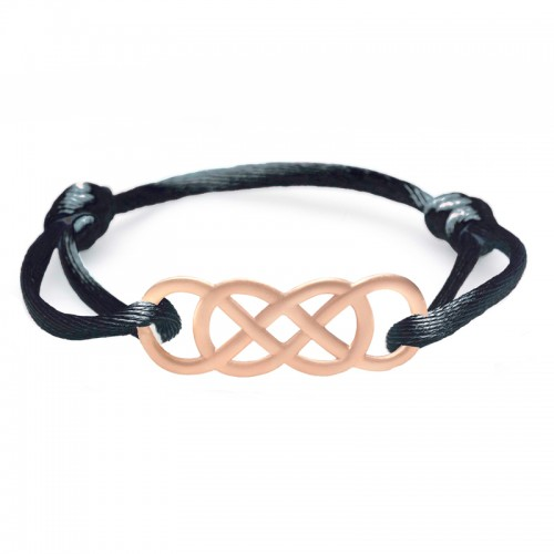 Bracelet en or rose Infinity by Victoria - Satin