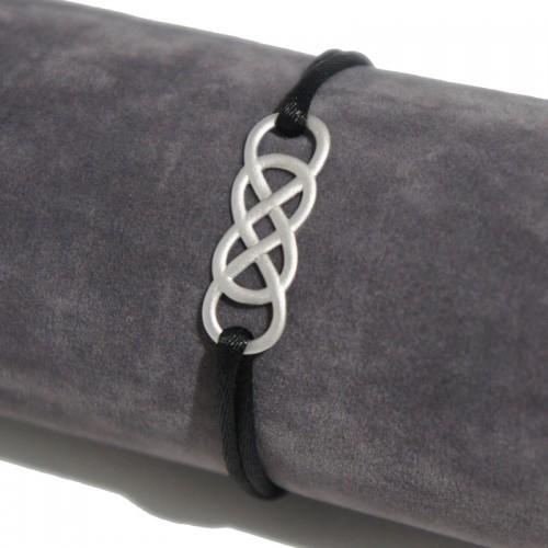 Bracelet en argent Infinity by Victoria - Satin