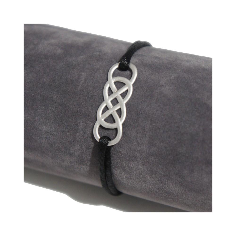 Bracelet en argent Infinity by Victoria , Satin. Loading zoom